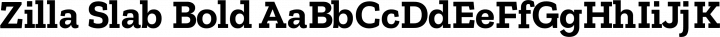 Zilla Slab Bold free font