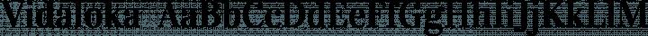 Vidaloka  Regular free font