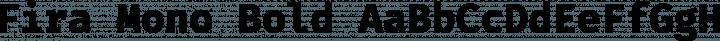 Fira Mono Bold free font