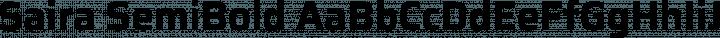 Saira SemiBold free font